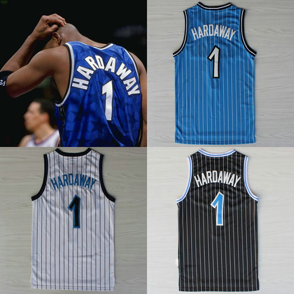 size 40 d2d0e be436 R$ 104.85 |summer style Penny Hardaway Retro Throwback Basketball Jersey  Number #1 Hardaway Basketball Jersey Basketball Shirts em Basquete Jerseys  de ...