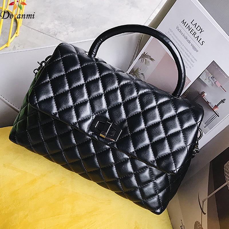 DORANMI Diamond Lattice Handbag Bags For Women 2019 Luxury Brand Designed Chic Top-handle Bag Female Shoulder Bag Bolsa DJB1020