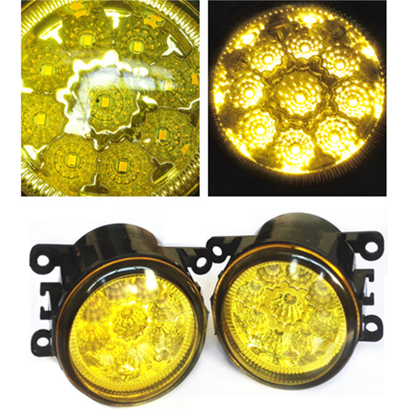 For FORD FOCUS MK3 Saloon 2011-2015 Styling High Bright LED Fog Lamps Yellow Glass Light
