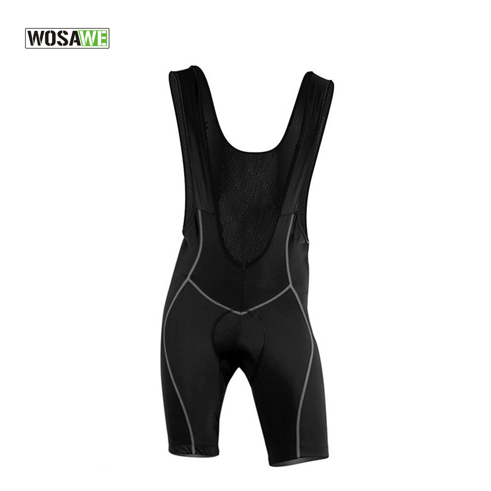 WOSAWE New outdoor women Mens Cycling Bib Shorts 3D Padded Bike / Bicycle Braces Free shipping