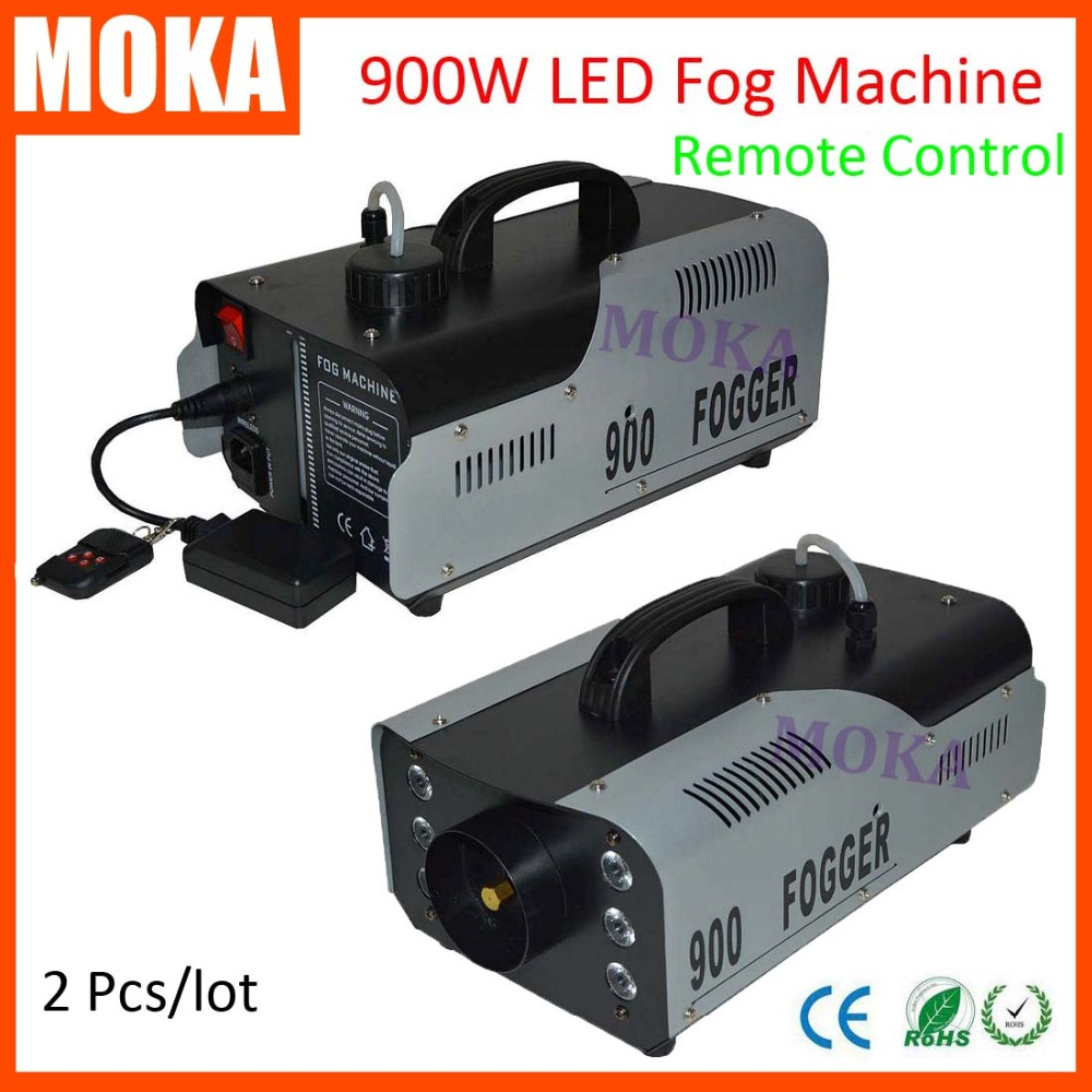 2 pcs/lot 900w Stage Effect fog machine led Smoke Machine Dj Equipment Fog Machine remote control Smoke Fogger machine 1pc 1500w led fog machine pyro vertical smoke machine professional fogger for stage effect equipment