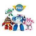 4 Pçs/set Coréia Robocar poli Brinquedos Robocar poli Brinquedos Transformação Robô os Melhores Presentes Para As Crianças