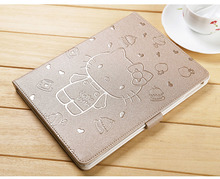 for iPad 9.7 Case 2017 2018 Cover Stand PU Leather Tablet Cover New Cute Cartoon 3D Button Case For ipad Air 1/2