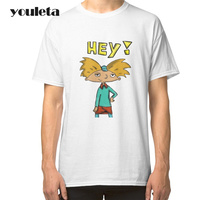 2018 Great T Shirt Mens White Hey Arnold Men T Shirt Short Sleeve Crew Neck Group