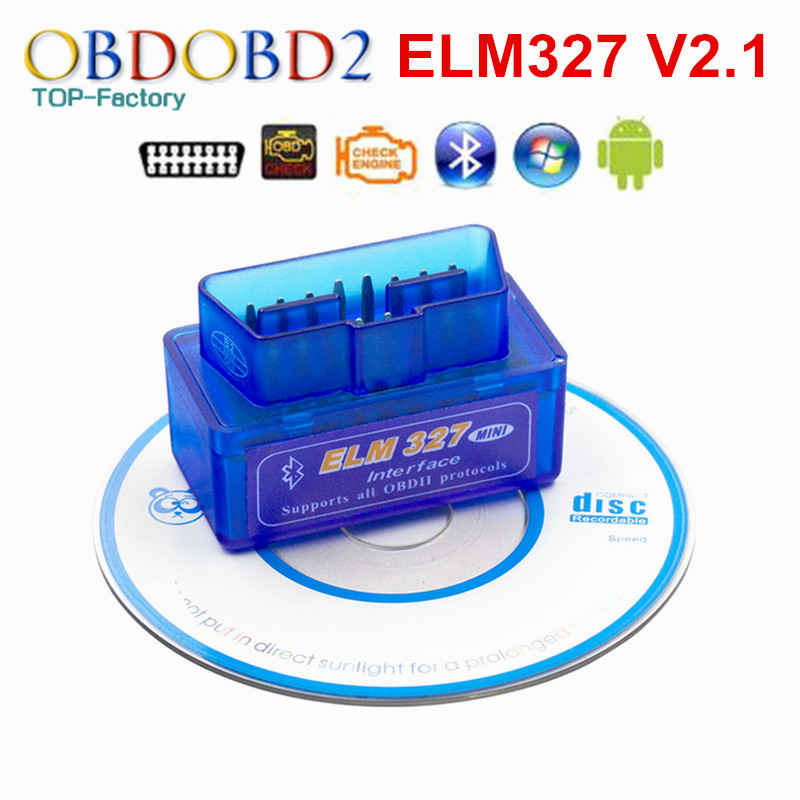 2019 Super Mini ELM327 Bluetooth V2.1 OBD2 Car Diagnostic Tool Mini ELM 327 Bluetooth For Android/Symbian For OBDII Protocol
