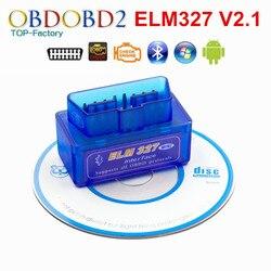 2020 Super Mini ELM327 Bluetooth V2.1 OBD2 narzędzie diagnostyczne do samochodów Mini ELM 327 Bluetooth dla androida/Symbian dla protokołu OBDII