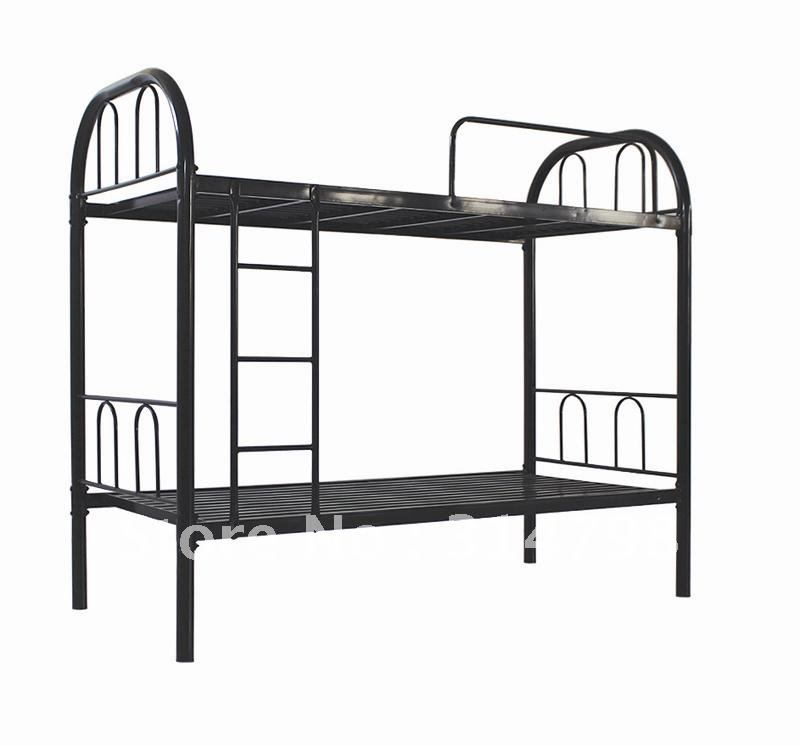 Metal Bunk Bed Made Of Steel Tube And Powder Coating