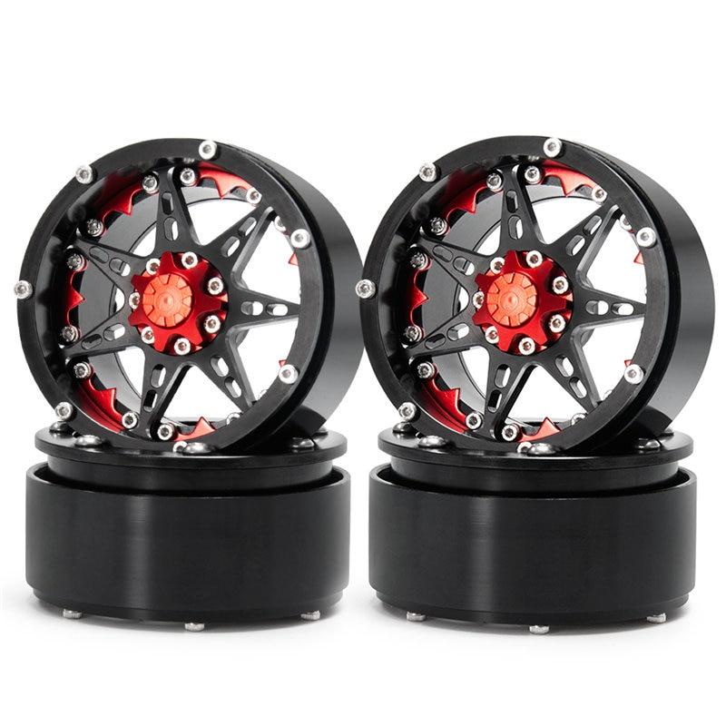 攀爬车-2.2英寸金属轮毂-24号-黑+红X1 (5)