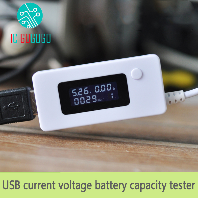 USB Voltage Current And Battery Capacity Tester + Discharge Resistance Mobile Power Charging Detector Charge Discharge Tabler