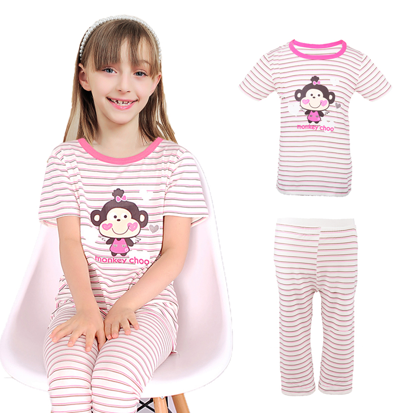 Pajama For Girls Summer Cotton Casual Children Clothing -5051