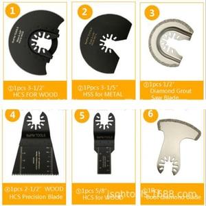 Image 3 - 16 pçs oscilante multi função universal lâmina de serra cortador aço carbono para diy renovador