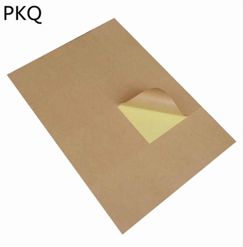 Image 5 - 80 Sheets A4 Brown Kraft Paper Stickers 2/4/6/8/10 Division Self Adhesive A4 Printing Labels For Inkjet Laser PrinterStationery Stickers   -