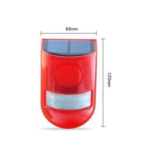Image 3 - Security Alarm Zonne energie Sirene Met Strobe IP65 Waterdichte 110dB Luide Sirene Ingebouwde PIR Motion Sensor Voor Huis Tuin Outdoor