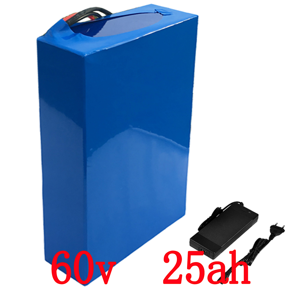 Free customs tax 60V 2000W Lithium Scooter Battery 60V 25AH Electric Bike Battery 3.7V 26650 cell 30A BMS 67.2V 2A Charger free customs taxes 48v 40ah portable lithium battery with 2000w bms chargrer e bike electric bicycle scooter 48v lithium battery