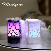 TBonlyone 200ML Water Cube Auto Shut Off Electric Ultrasonic Air Humidifier Essential Oil Diffuser Night Lamp