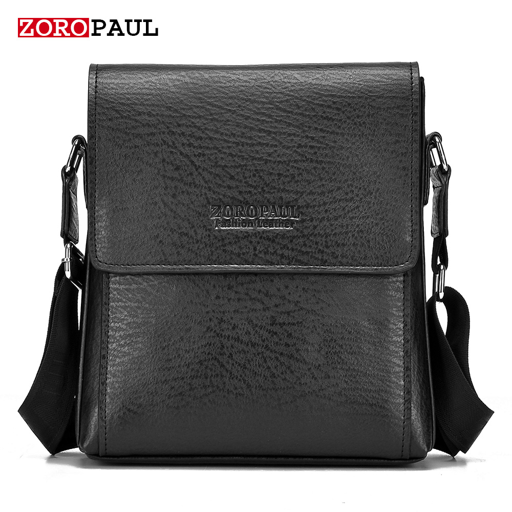 ФОТО ZOROPAUL Factory outlet NEW Fashion Business Leather Men's Messenger Bags Small Crossbody Vintage Single Shoulder Casual Man Bag