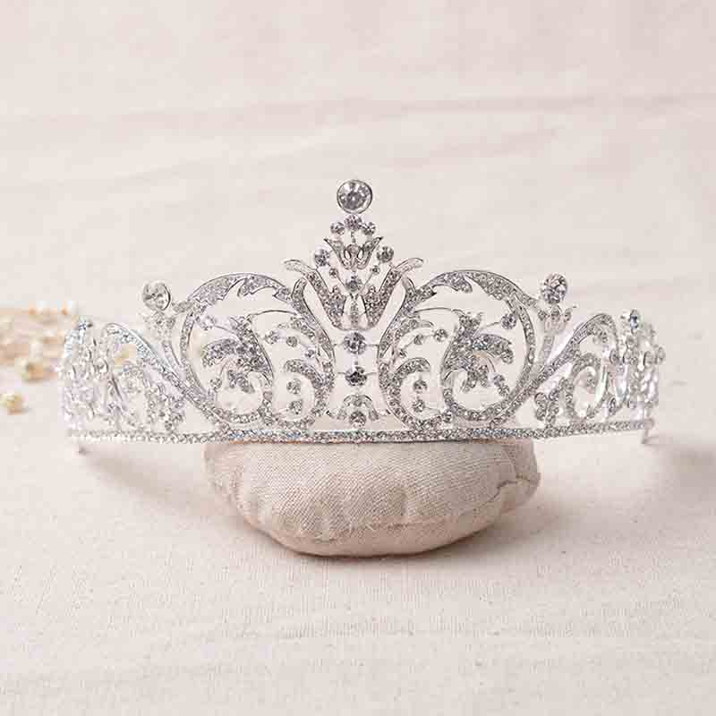 Crystal Bridal Tiara Crown Veil Headpiece Rhinestone Wedding Prom Pageant Crowns