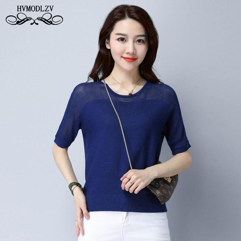 Plus la taille D'été t-shirt Femmes T-shirt féminin De Mode Respirant Tricot glace soie Harajuku femmes t-shirt tops