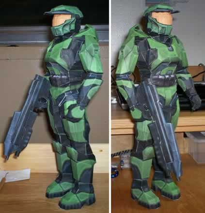 Halo War Commando Crew Genesis 3D Paper Model