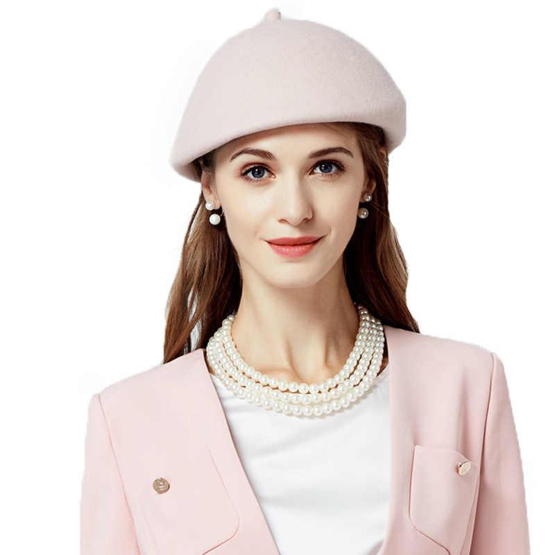 FS брендовые фетровые шапки Женская французская шляпа берет Зимняя шерстяная фетровая шляпа элегантная женская Вуалетка художница одежда Boinas Femininas
