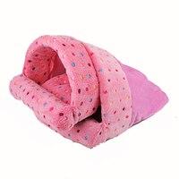 Venxuis Polar Fleece Pet Bed Cat House Cat Sleeping Bag Cotton Cat Bed Small Dog Puppy Kennel Sofa Warm Nest