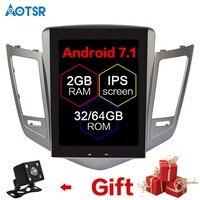 Android7.0 Тесла стиль автомобиля gps навигации для CHEVROLET CRUZE 2009 2013 навигация автомобиля стерео головного устройства мультимедиа нет dvd плеер