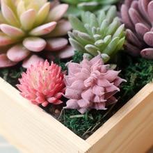 Boda hogar jardín Oficina dormitorio sala de estar decoración plantas artificiales Mini plantas suculentas 33 estilo Pick Up plantas falsas