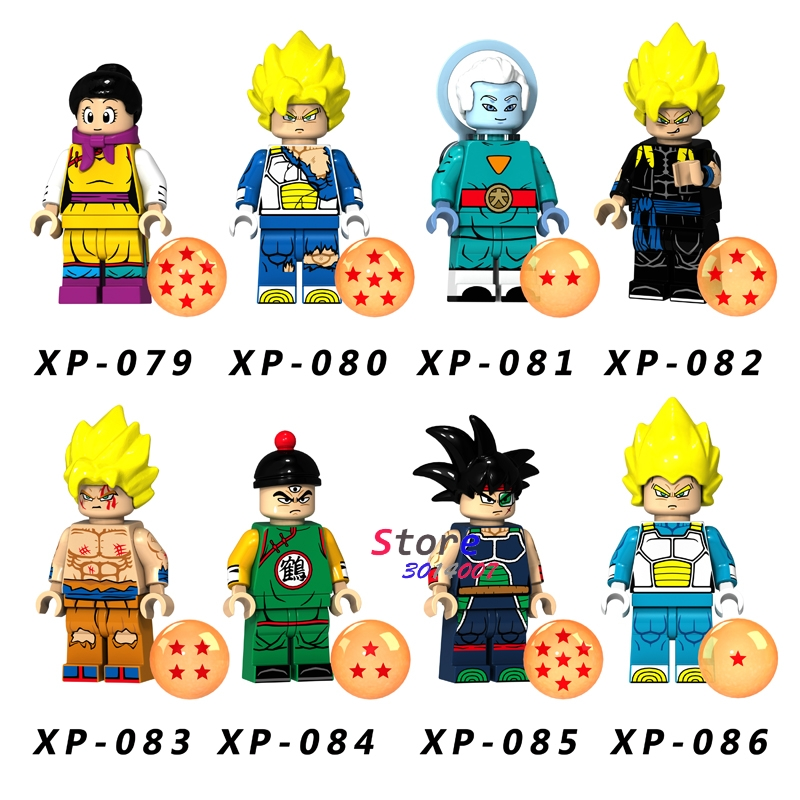 50pcs Building Blocks Dragon Ball Z Cartoon Series Goku Chichi Crane immortal Vegeta models bricks for