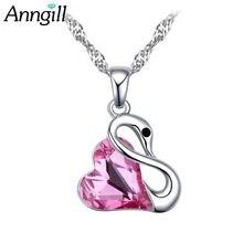 Новые кристаллы от swarovski колье цепочка любовь подвеска ожерелья