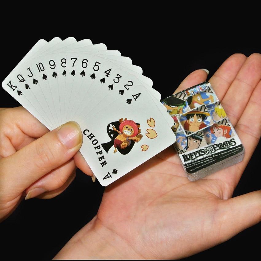 Cartoon Playing Cards Portable Childrens Mini Poker Color random