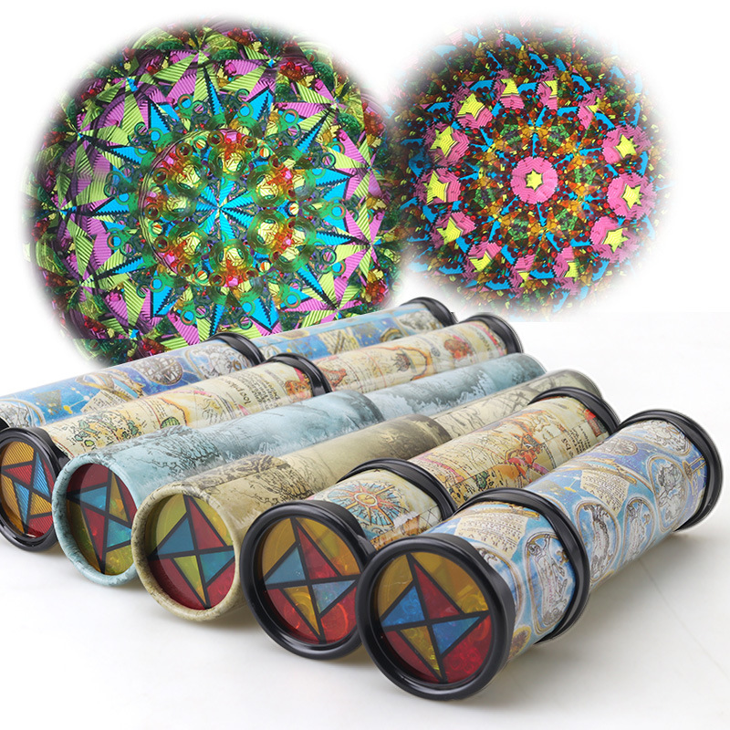 30CM Rotation Kaleidoscope Scalable Magic Changeful Colorful Toys Early Educational Toys Gifts For Children Kids