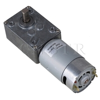 DC 12V 7RPM Low Speed Worm Gear Motor WGM 555 Large Output Torque Silver CNBTR