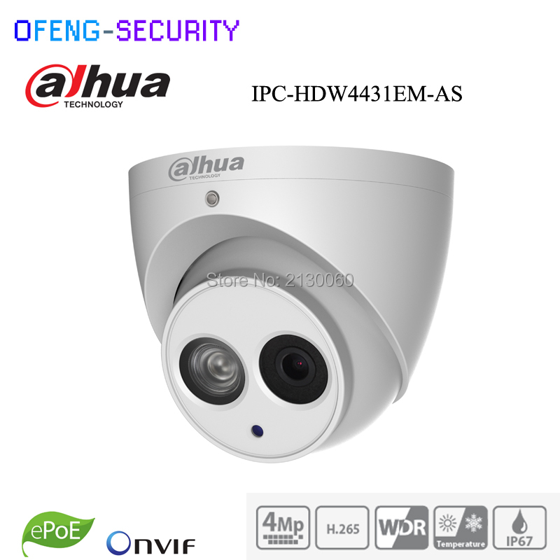 Dahua IPC-HFW4431E-SE 4mp Bullet IP camera POE sd card slot H265 IR40M replace IPC-HFW4431E-S IPC-HFW4421E mini bullet Dahua IPC цена