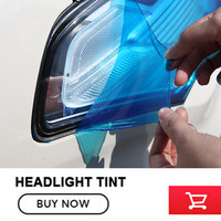 -Màu sắc Auto 30 cm x 9 m Sticker Khói Sương Mù Nhẹ Đèn Pha Tail Light Tint Vinyl Film Tờ Car Decorat vận chuyển