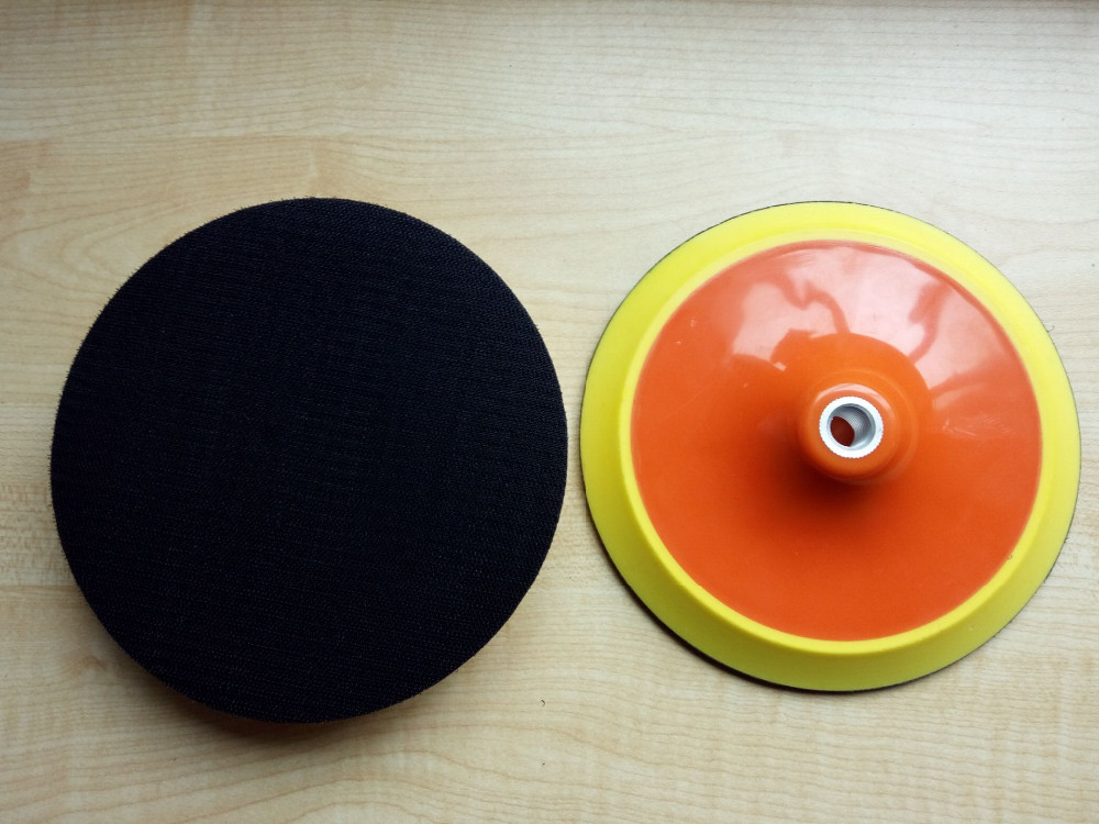 Polishing pad with self adhesive 175mm 7 thread M14 sanding disc polish pad for electric angle grinder polisher 11 11 free shipping adhesive sander back pad sanding machine mat black white for makita 9035