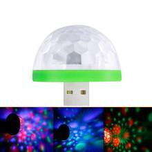 New Mini Portable USB Disco Stage Light Home Wedding Party Decor Lights LED Decorations Colorful KTV DJ Disco Holiday Light Lamp(China)