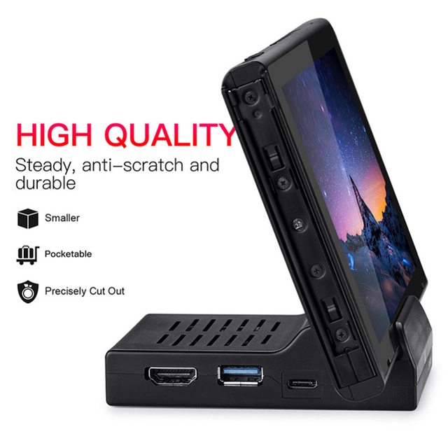 ABS Cooling Heat Dissipation Type C TV Dock Base Support 4K Video USB 3.0 HDMI Output Dock Station for Nintend Switch Host Stand