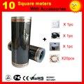 10 квадратных метров CE сертифицированная электрическая нагревательная пленка  электрическая углеродная нагревательная пленка хорошего зд...