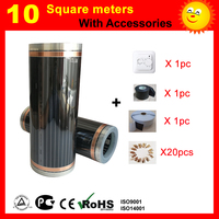 10 Square meter CE certified electric Heating film  electric carbon element heating film good to health|electric heating|heating electric|film heating -