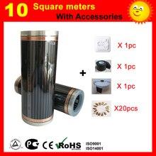 10 квадратных метров CE сертифицированная электрическая нагревательная пленка, электрическая углеродная нагревательная пленка хорошо для здоровья