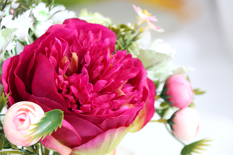 Wedding Bouquet for bridesmaids flowers artificial rose peony (15)