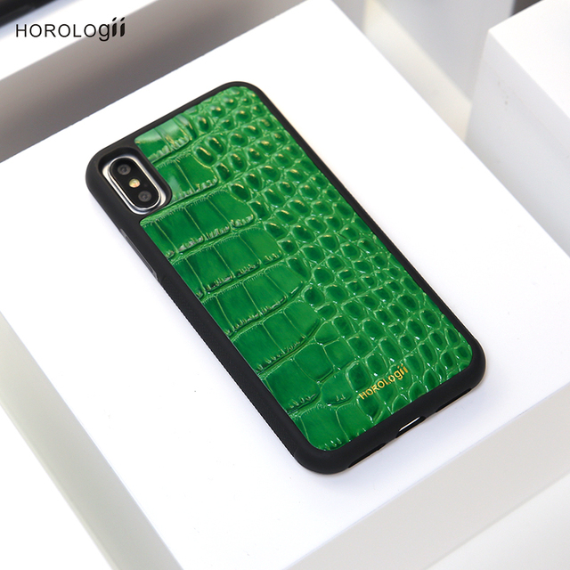 Us 19 64 45 Off Horologii Green Phone Case Cover For Iphone Xs Max Xr Case Embossed Crocodile Pattern Luxury Personalized Initials Dropship In