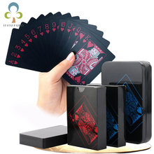 7b0fbb4805c1b Новая колода покер Водонепроницаемый Пластик ПВХ Набор Игральных Карт черный  Цвет карты покер комплекты классические Крисс