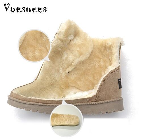Women Boots High Quality Classic Lace-Up Women Winter Boots Suede Ankle Snow Boots Female Warm Fur Plush Insole Botas Mujer