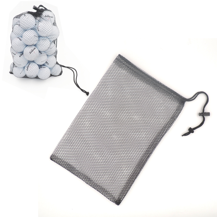 Nylon Golf 48 Pcs Balls Holder Mesh Bag Training Bag Tennis Hold Ball Storage Closure Aid Durable Black