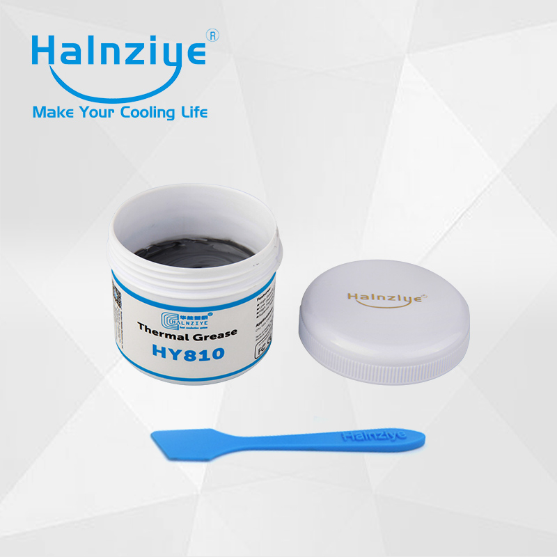 Silicone nano LED&COB thermal conductive paste compound HY810 100g can with thermal conductivity 4.63W/m-K synthetic graphite cooling film paste 300mm 300mm 0 025mm high thermal conductivity heat sink flat cpu phone led memory router