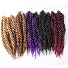 """Qphair синтетические волосы 1"""" 12 шт./пакет черный Цвета Гаванские кудри крючком Briads"""