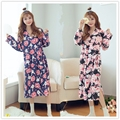 2016 winter bathrobe womens kimono satin long robe sexy lingerie hot nightgown sleepwear female deep v neck dress with g string
