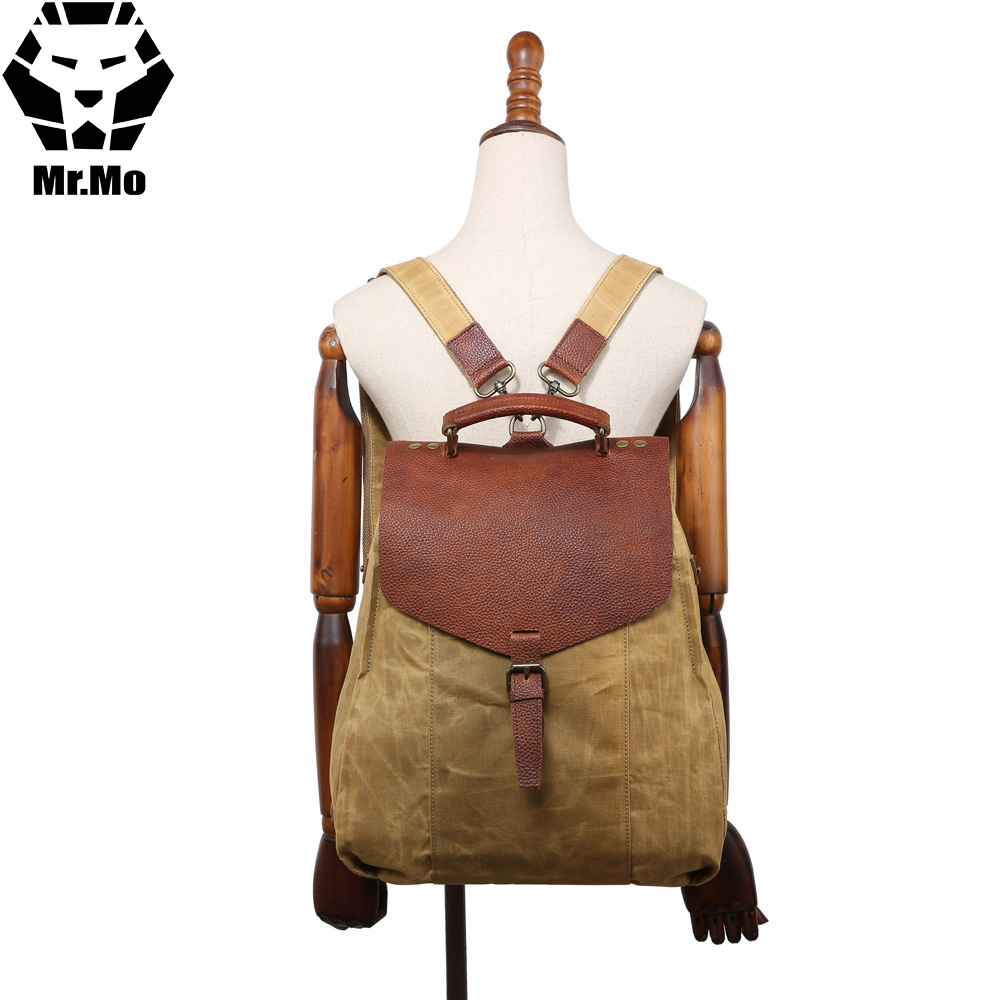 2018 New Women Vintage Canvas Leather Backpack Bags Female School Bags For Girls Teenagers Small Mini Backpack Rucksack Mochilas new arrival vintage tassel women backpack female flowers canvas school bags for teenager girls fashion leisure ladies rucksack
