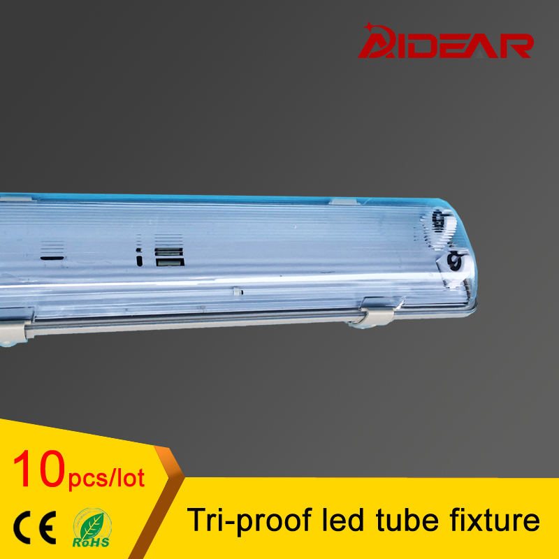 4ft T8 LED 1.2M Tri-proof led tube fixture with 2pcs T8 led tube light waterproof dustproof explosionproof free shipping megairon tri clover sanitary spool tube with 51 64mm ferrule clamp ss316 4 6 8 12 18 24 length tube thickness 1 5mm